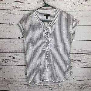 J Crew 4 pinstripe blouse